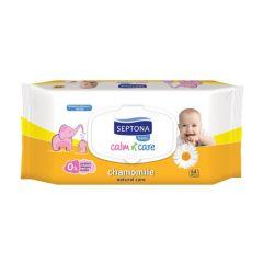Septona Calm n' Care Chamomile Бебешки мокри кърпички лайка с капак 64 бр