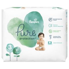 Пелени Pampers Pure Ptotection Размер 3 Midi 31 бр