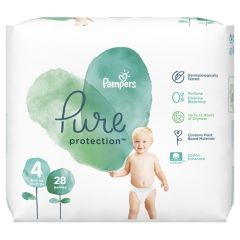 Пелени Pampers Pure Ptotection Размер 4 Maxi 28 бр