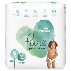 Пелени Pampers Pure Ptotection Размер 5  Junior 24 бр