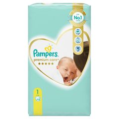 Пелени Pampers Premium Care Размер 1 New born 52 бр