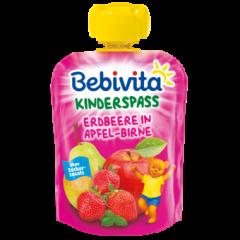 Bebivita забавна плодова закуска ягода, ябълка и круша 12М+ 90 гр