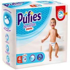 Pufies Sensitive Pants №4 Maxi Бебешки пелени тип гащички за деца 9-15 кг x46 бр