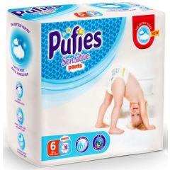 Pufies Sensitive Pants №6 Extra Large Бебешки пелени тип гащички за деца над 15 кг x38 бр