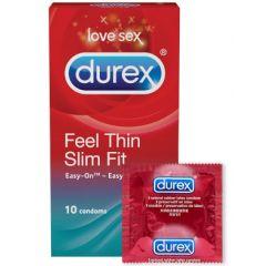 Durex Feel Thin Slim Fit презервативи 10 бр