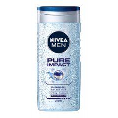 Nivea Men Pure Impact Душ-гел за мъже с фини ексфолиращи частици 250 мл