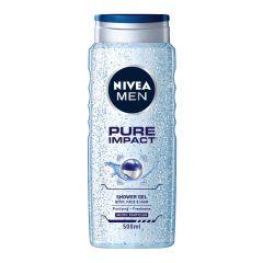 Nivea Men Pure Impact Душ-гел за мъже с фини ексфолиращи частици 500 мл