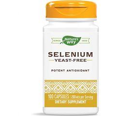 Nature's Way Selenium Селен за защита на клетките и тъканите от оксидативен стрес 200 мкг х100 капсули