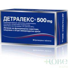 Детралекс при разширени вени и хемороиди 500 мг х 36 филмирани таблетки Servier