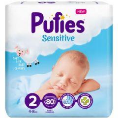 Pufies Sensitive Бебешки пелени MP №2 Mini 4-8 кг x80 бр