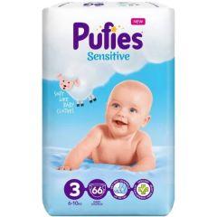 Pufies Sensitive Бебешки пелени MP №3 Midi 6-10 кг x66 бр