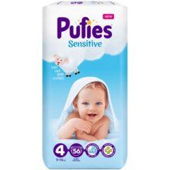 Pufies Sensitive Бебешки пелени MP №4 Maxi 9-14 кг x56 бр