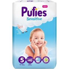 Pufies Sensitive Бебешки пелени MP №5 Junior 11-16 кг x48 бр