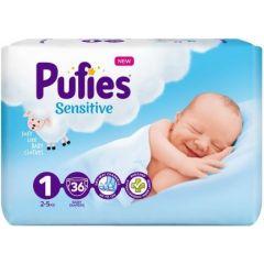 Pufies Sensitive Бебешки пелени SP №1 Newborn 2-5 кг x36 бр
