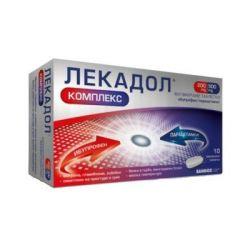 Лекадол Комплекс 200 мг ибупрофен / 500 мг парацетамол х10 филмирани таблетки Sandoz