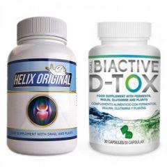 Helix Original Промо комплект Натурална добавка Helix Original При проблеми в ставите х60 капсули + Dual Biactive D-TOX х30 капсули