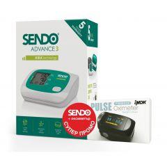 Промо Комплект Апарат за кръвно Sendo Advance 3 с HIRA технология + пулс оксиметър