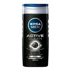 Nivea Men Active Clean Душ-гел за мъже с активен въглен 250 мл