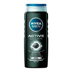 Nivea Men Active Clean Душ-гел за мъже с активен въглен 500 мл