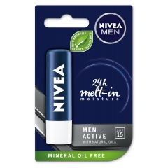 Nivea Men Active Care Балсам за устни за мъже SPF15 4.8 гр
