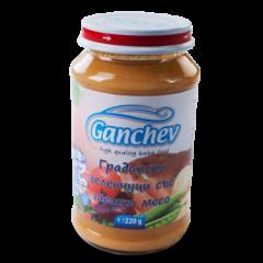 Ganchev Пюре градински зеленчуци със заешко месо 12М+ 190 гр