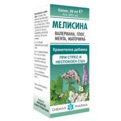 Мелисина/мента, глог, валериан, маточина 20 мл Chemax Pharma