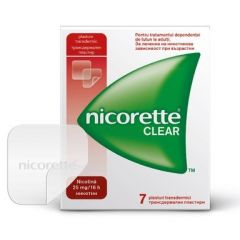 Nicorette Clear Никорет Клиър Пластири за отказване на цигарите 25 мг/16h х7 бр McNeil