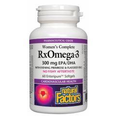 Natural Factors Women's Complete Rx Omega-3 поддържа сърдечно-съдовото здраве 1035 мг х 60 софтгел капсули