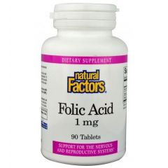 Natural Factors Folic Acid Фолиева киселина 1 мг х 90 таблетки