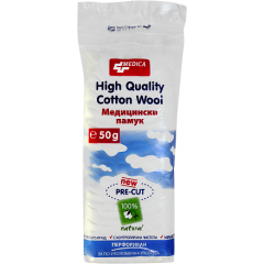 Medica Медицински естествен памук перфориран x50 гр
