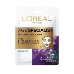 Loreal Age Specialist 55+ Хартиена маска за лице за възстановяване на кожата 30 гр