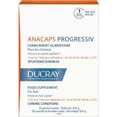 Ducray Anacaps Progressive Хранителна добавкасрещу прогресивен косопад х 30