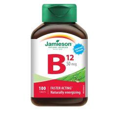 Jamieson Витамин В12 50 мкг х100 таблетки