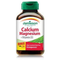 Jamieson Calcium, Magnesium + Vitamin D3 Калций, Магнезий + Витамин Д3 х 100 + 100 капсули