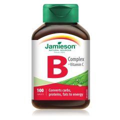 Jamieson Витамин В комплекс + Витамин C х 100 таблетки