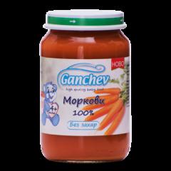 Ganchev Пюре моркови 100 %, без захар 4М+ 190 гр