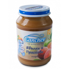 Ganchev Пюре ябълки и праскови 4М+ 190 гр