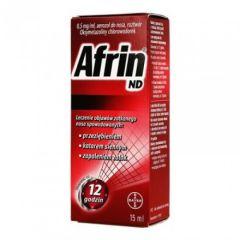 Bayer Африн ND Спрей за нос при настинка, сенна хрема и синузит 15 мл