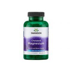 Swanson Chelated Magnesium Албион Хелатиран Магнезиев Глицинат х 90 капсули
