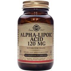Solgar Alpha lipoic acid Алфа-липоева киселина силен антиоксидант 120 мг х60 капсули