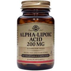 Solgar Alpha lipoic acid Алфа-липоева киселина силен антиоксидант 200 мг х50 капсули