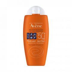 Avene Eau Thermale Sport Водоустойчив слънцезащитен флуид за лице и тяло за чувствителна кожа SPF50+ 100 мл