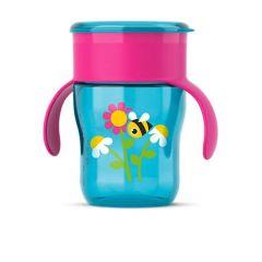 Avent Преходна чаша с дръжки с пчеличка 9М+ 260 мл