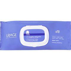 Uriage Bebe 1er Термални почистващи мокри кърпи за бебета и деца 70 броя