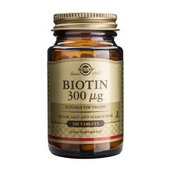 Solgar Biotin Биотин за здрави коса, кожа и нокти 300 мг х100 таблетки