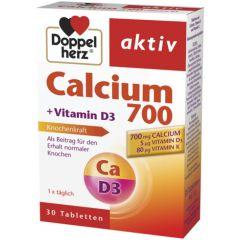 Doppelherz Допелхерц актив Калций 700 + Витамини D + K х30 таблетки