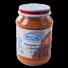 Ganchev Пюре телешко месо с домати и ориз 4М+ 190 гр