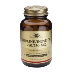Solgar Choline/Inositol Холин/Инозитол при висок холестерол 250 мг/250 мг х50 капсули
