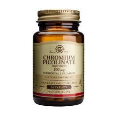 Solgar Chromium Picolinate Хром Пиколинат при висока кръвна захар 100 мг х90 таблетки