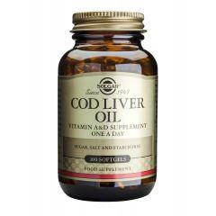 Solgar Cod Liver Oil Рибено масло от черен дроб на Треска х100 меки капсули
